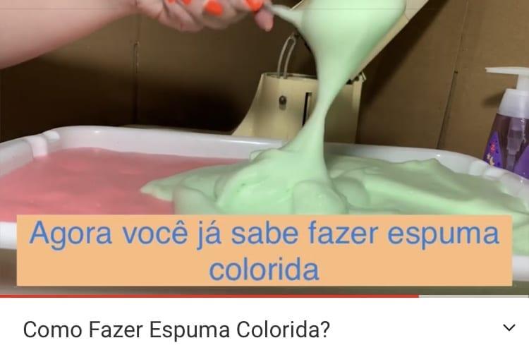 Como fazer espuma sensorial colorida?