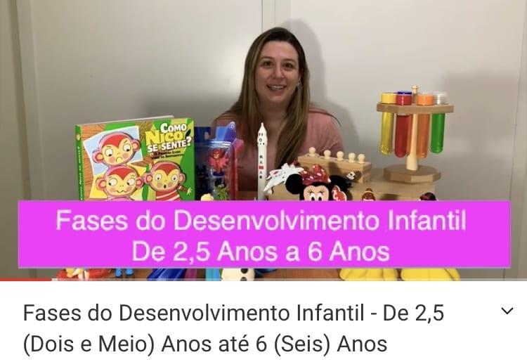 Fases do Desenvolvimento infantil - De 2 anos e meio a 6 anos
