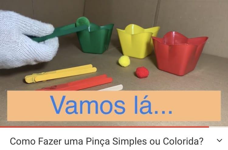 Como fazer uma pinça simples colorida em casa?