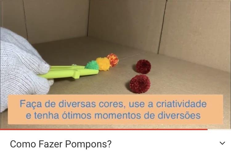 Como fazer pompons coloridos em casa?